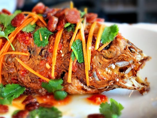 Whole fish is considered a lucky food for New Years.
