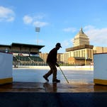 Frozen Frontier turns baseball field into hockey haven