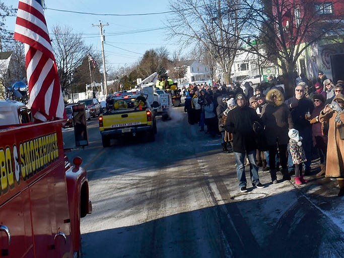 Egg Harbor's New Year's Day Parade drew an assemblage