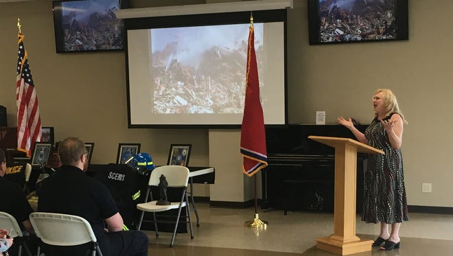 Ann Priddy shared her experience of helping at Ground Zero in the aftermath of 9/11.