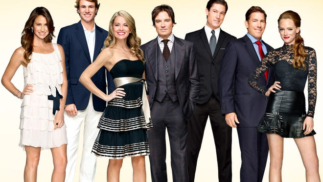 """The cast of """"Southern Charm"""" visited Ben's Tune-Up for filming on Wednesday night."""