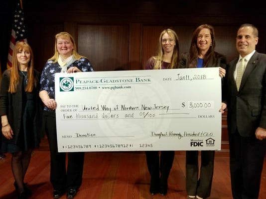 Peapack-Gladstone Bank makes $5,000 donation PHOTO CAPTION