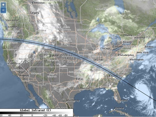 Solar Eclipse 2017 Weather Forecast Where Will Clouds Ruin Your View