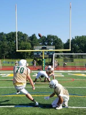 J.P. Stevens football practice on Wednesday