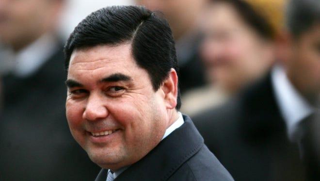 Turkmenistan President Gurbanguly Berdymukhamedov in 2009.