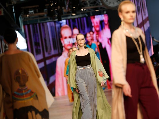 Models on runway during first Modest Fashion Week in