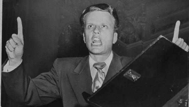 Evangelist Billy Graham in 1950.