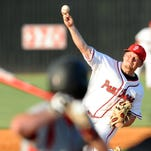 Petal player Tristan Labove (11) pitches during a game against Harrison Central in the second round of 6A playoffs Thursday.