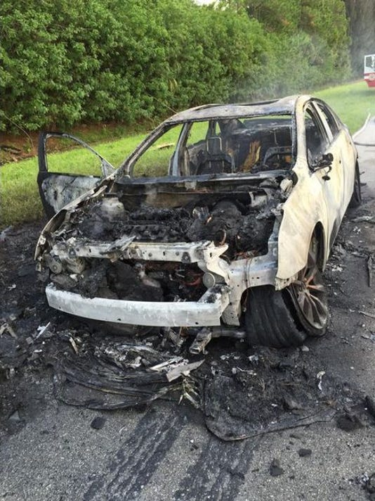 BCFR responds to vehicle fire on NB I-95 in Melbourne