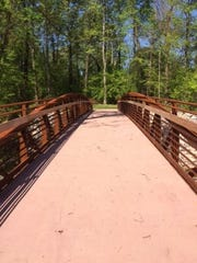 Bridge over Fletcher Creek, part of Bartlett's new section of greenway