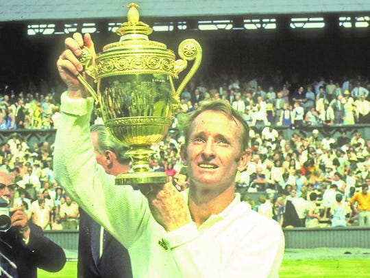 Rod Laver won 11 Grand Slam singles titles, including four at Wimbledon.