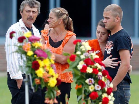 APTOPIX Tony Stewart Crash Funeral