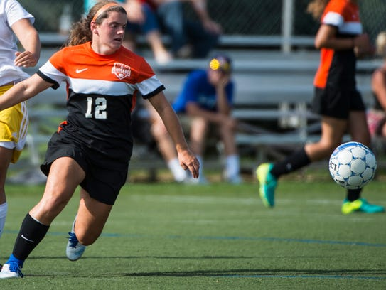 Palmyra senior Hannah Bowman, one of the top defenders