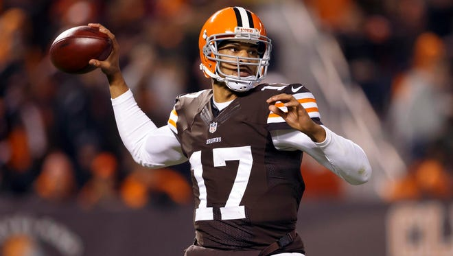 Browns quarterback Jason Campbell has thrown for 561 yards and five touchdowns this season.