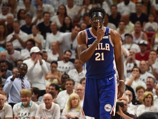 USP NBA: PLAYOFFS-PHILADELPHIA 76ERS AT MIAMI HEAT S BKN MIA PHI USA FL