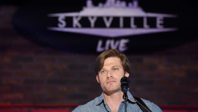Chris Carmack rehearses for a Skyville Live show July 12, 2016, in Nashville.
