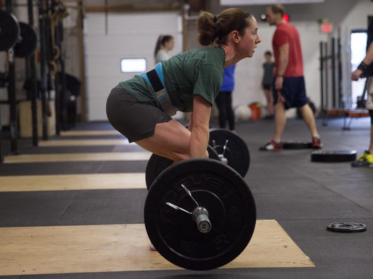 Trisha Conti does the clean and jerk in Colchester.