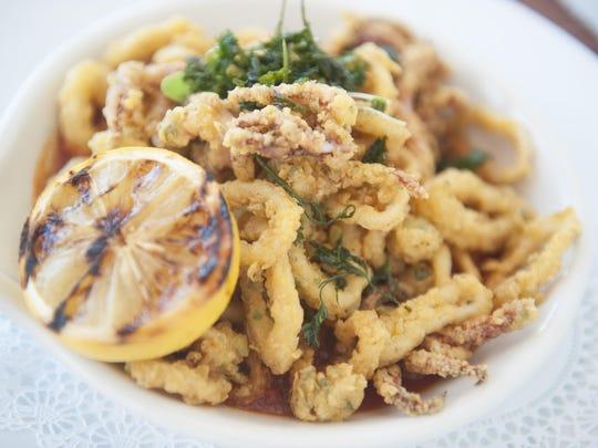 Calamari is a tasty choice at Redz Restaurant in Mount Laurel.