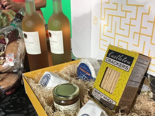 Notorious Pink Rose wine and the Cheesemonger Box