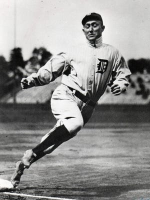 Detroit Tigers' Ty Cobb runs the bases in an undated photo. Before being called the Tigers, Detroit's team was called the Creams.