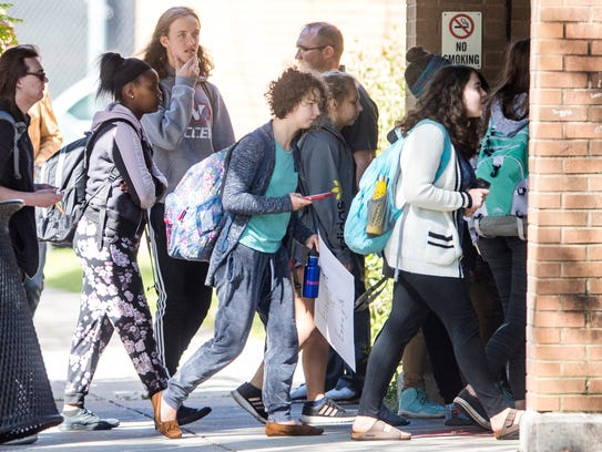 West High School students head back to class with their