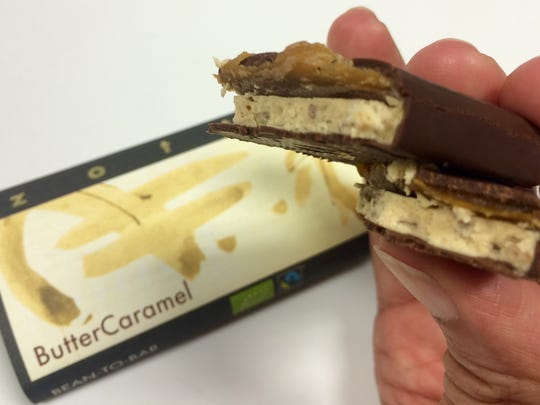 The Butter Caramel bar from Austria-based Zotter Chocolates, which has a showroom in Cape Coral, wowed our testers in a blind tasting.