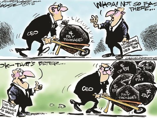 CEO pay toon