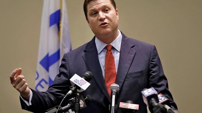 Florida Sen. Jeff Brandes, R-St. Petersburg, speaks at a January news conference.