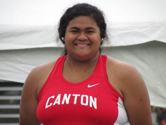 Canton senior shot-putter Emily Meier is the lone state