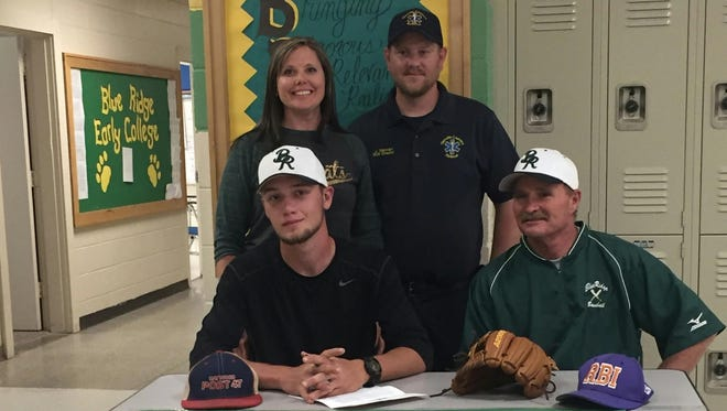 Blue Ridge senior Hunter Stewart has signed to play college baseball for Mars Hill.