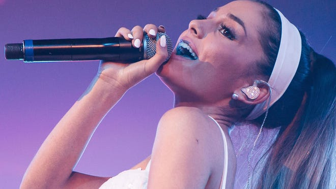 PALM SPRINGS, CA - APRIL 26:  Singer Ariana Grande performs during Jeffrey Sanker Presents the 25th White Party Anniversary at Palm Springs Convention Center on April 26, 2014 in Palm Springs, California.  (Photo by Vincent Sandoval/WireImage) 487086789  [Via MerlinFTP Drop]