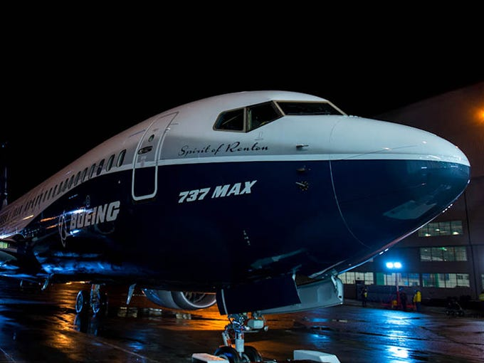 Boeing's first fully assembled 737 MAX is rolled out