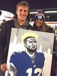 Ben Erickson got Odell Beckham Jr. to sign his painting,