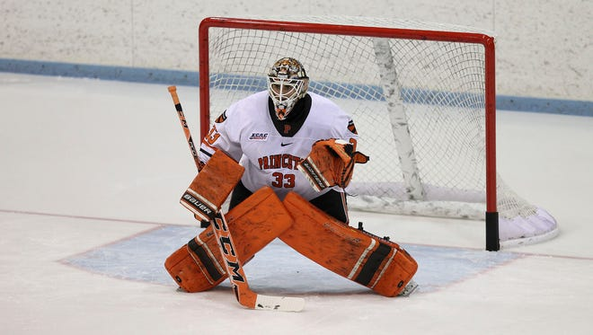 Colton Phinney, a Chatham native who attended Delbarton, broke Princeton's all-time saves record on Friday.