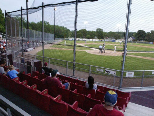 Fans watch baseball action at Wildwood Baseball Park