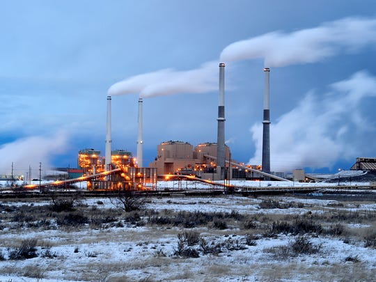 The coal fired power plant in Colstrip, February 4,