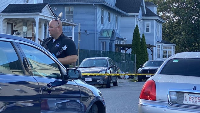 Worcester police investigate a shooting at 38 King St. on Monday morning.