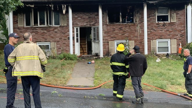 A fire Sunday damaged the house at 5 Sandra Drive, Worcester.