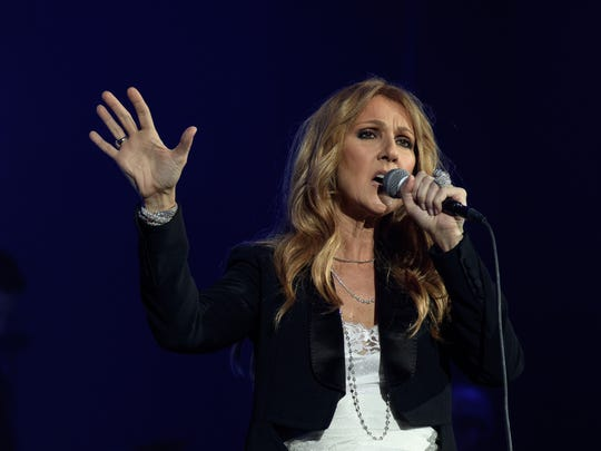 Singer Celine Dion performs at AccorHotels Arena concert