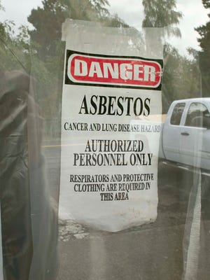 Asbestos fibers are a respiratory hazard proven to cause lung cancer, mesothelioma and asbestosis.