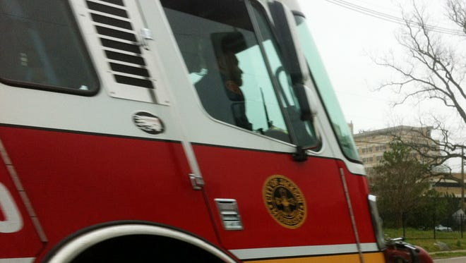 A woman was rescued from a burning apartment in Jackson Friday morning.