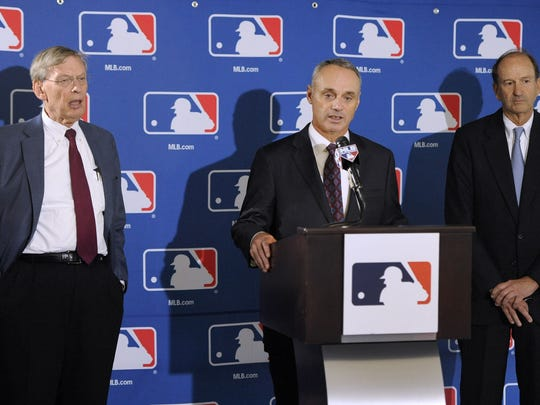 Tarrytown resident Rob Manfred, right, will become