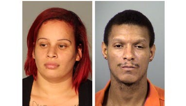 Sasha Chiciana and Christopher Robinson turned themselves in to authorities on June 24, 2014, after they were erroneously released from the Marion County Jail, Indianapolis.