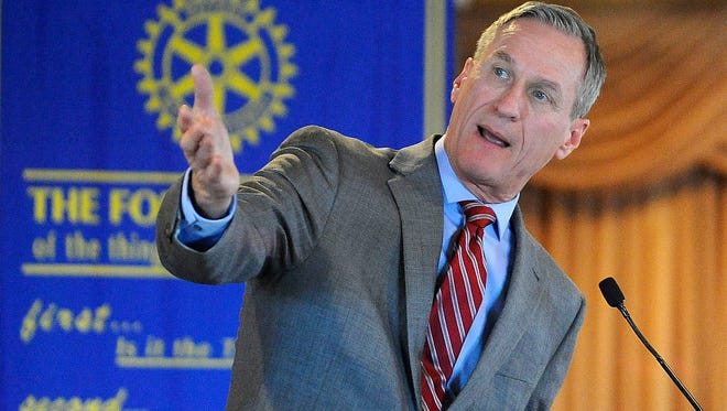 Gov. Dennis Daugaard came out against Senate Bill 135, a sales tax measure that would have benefited the state's largest city.