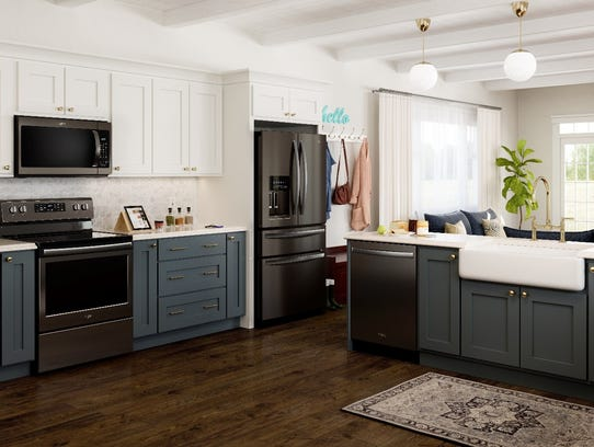 Updating existing kitchen features with striking appliances