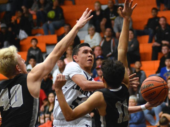 Oñate guard Ricky Lujan is averaging 13 points per game to start the season.