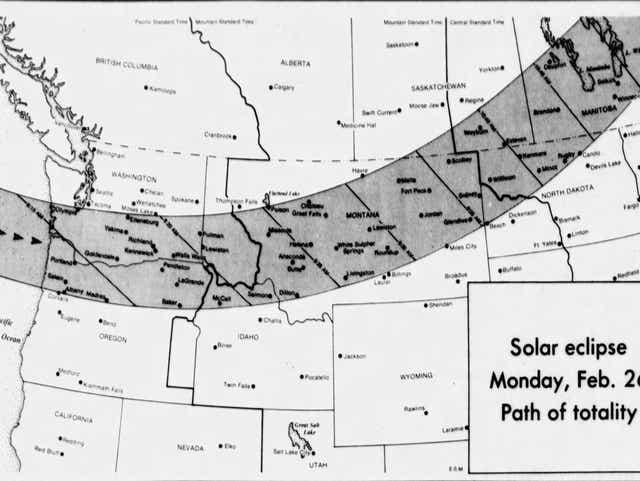 1979 Solar Eclipse Map Oregon solar eclipse memories from 1979