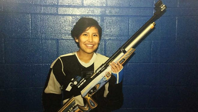 Bloomfield's Melanie Bowman placed 11th out of 33 competitors making her debut as a precision shooter at the Four Corners Invitational Oct. 20-21 at Piedra Vista High School. Bowman will compete in the state championships today in Albuquerque.