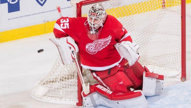 Detroit goalie Jimmy Howard will start against the Oilers.