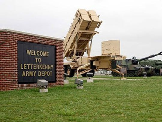 The entrance of Letterkenny Army Depot is seen in this file photo.